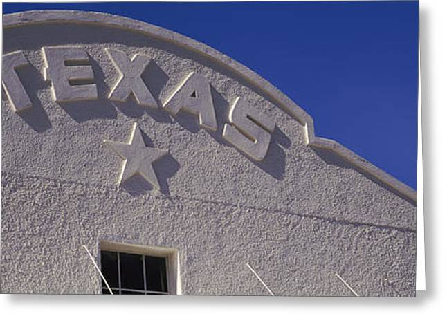 Low Angle View Of A Building, Marfa Greeting Card by Panoramic Images