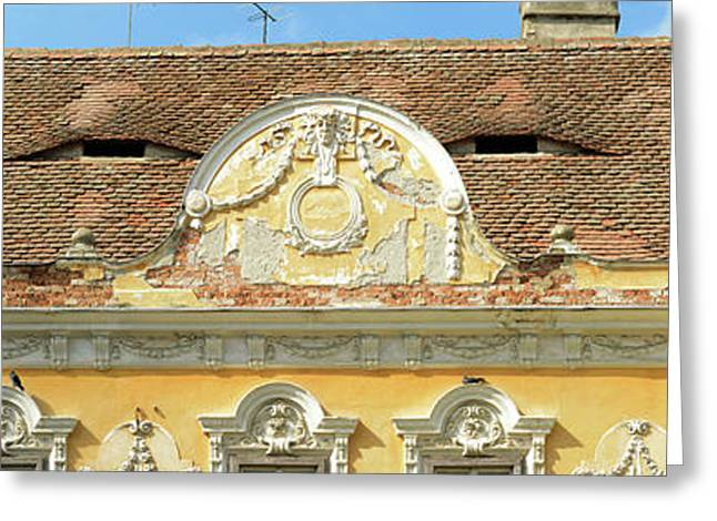 Low Angle View Of A Building, Sibiu Greeting Card
