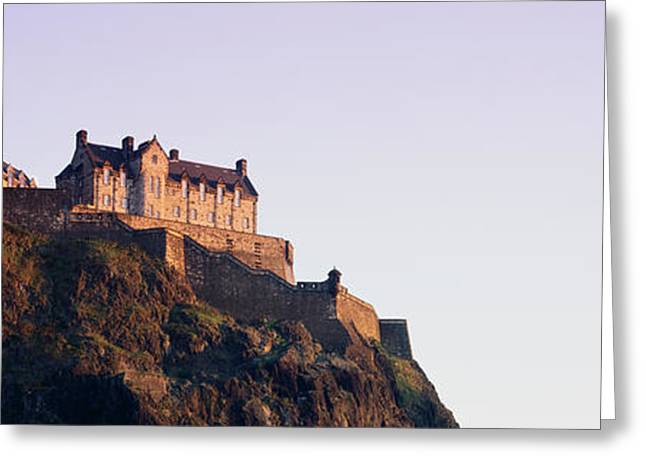 Low Angle View Of A Castle On Top Greeting Card