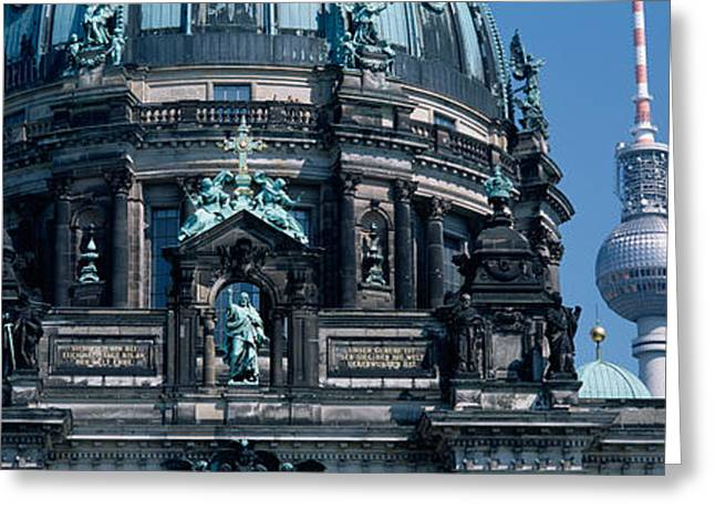 Low Angle View Of A Church, Berliner Greeting Card by Panoramic Images