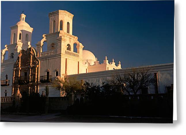 Low Angle View Of A Church, Mission San Greeting Card by Panoramic Images