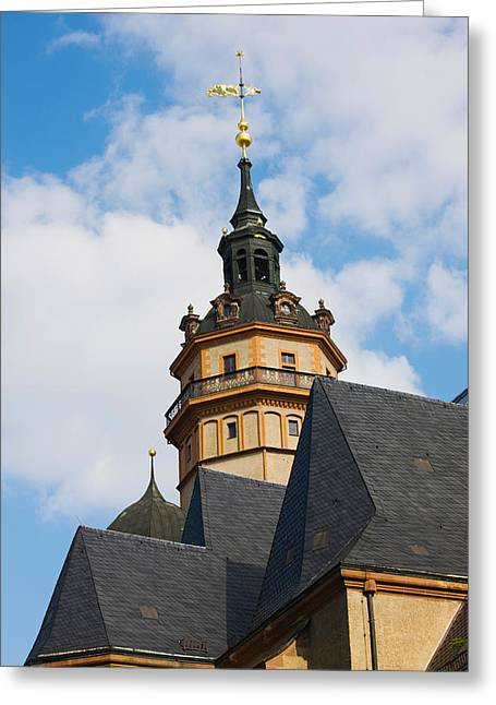 Low Angle View Of A Church Greeting Card by Panoramic Images