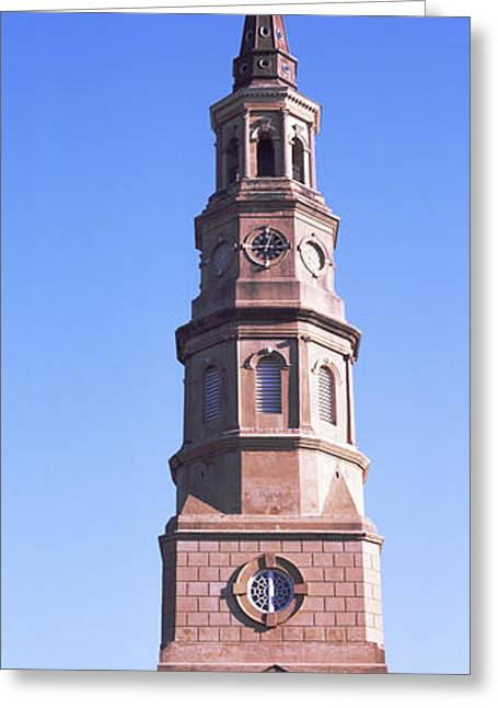 Low Angle View Of A Church, St. Philips Greeting Card