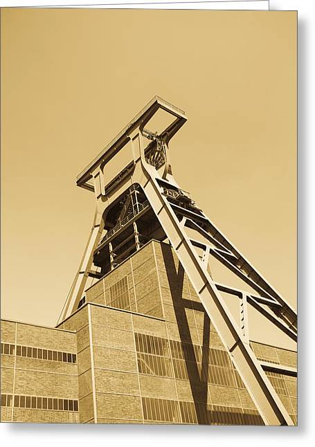 Low Angle View Of A Coal Mine Greeting Card