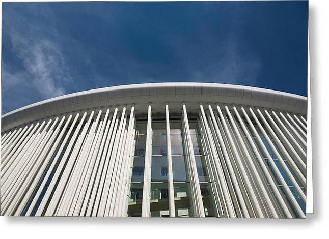Low Angle View Of A Concert Hall Greeting Card by Panoramic Images