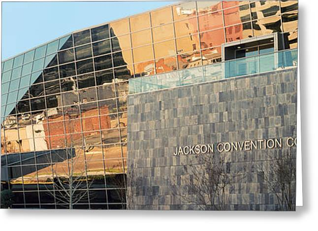 Low Angle View Of A Convention Center Greeting Card