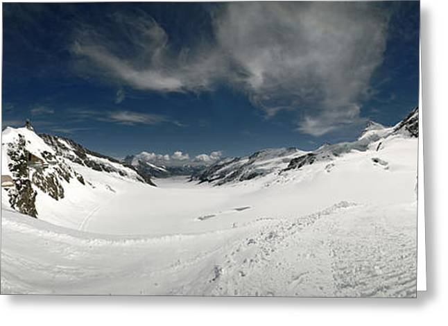 Low Angle View Of A Glacier, Aletsch Greeting Card by Panoramic Images