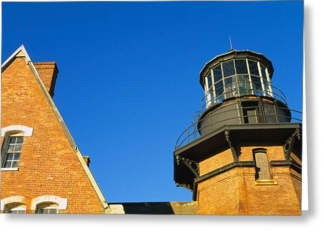 Low Angle View Of A Lighthouse, Block Greeting Card by Panoramic Images