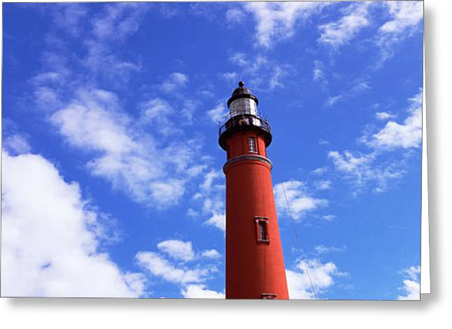 Low Angle View Of A Lighthouse, Ponce Greeting Card by Panoramic Images
