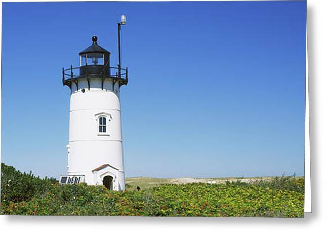 Low Angle View Of A Lighthouse, Race Greeting Card by Panoramic Images