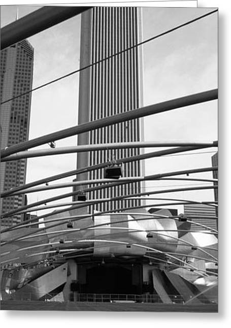 Low Angle View Of A Metal Structure Greeting Card