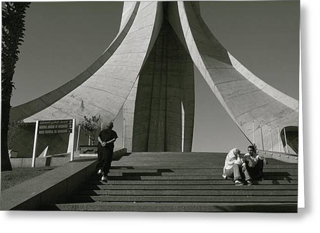 Low Angle View Of A Monument, Martyrs Greeting Card
