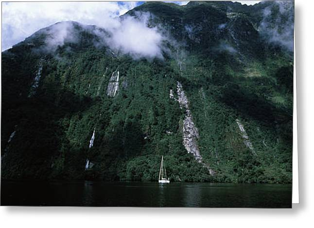 Low Angle View Of A Mountain, Milford Greeting Card by Panoramic Images