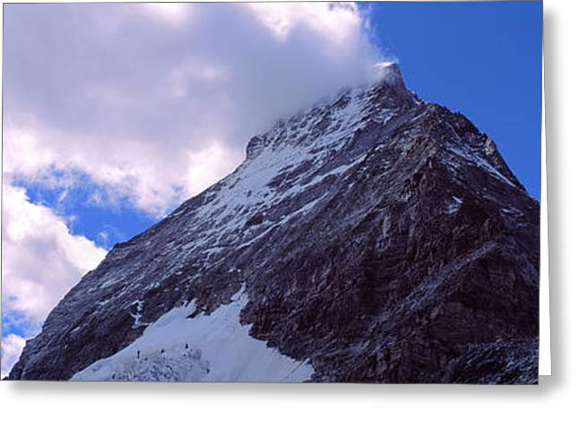 Low Angle View Of A Mountain Peak, Mt Greeting Card by Panoramic Images