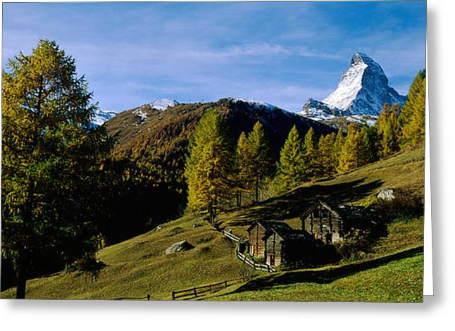 Low Angle View Of A Mountain Peak Greeting Card by Panoramic Images