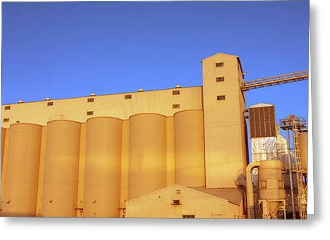 Low Angle View Of A Rice Drying Unit Greeting Card by Panoramic Images