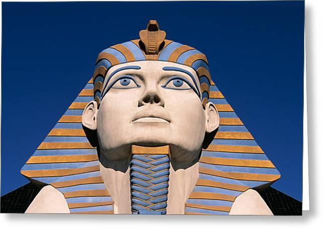 Low Angle View Of A Sphinx, Luxor Hotel Greeting Card