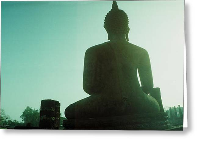 Low Angle View Of A Statue Of Buddha Greeting Card by Panoramic Images
