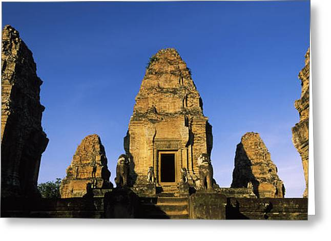 Low Angle View Of A Temple, Pre Rup Greeting Card by Panoramic Images
