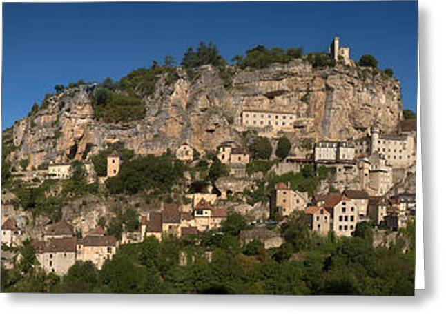 Low Angle View Of A Town On A Hill Greeting Card by Panoramic Images