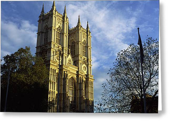 Low Angle View Of An Abbey, Westminster Greeting Card
