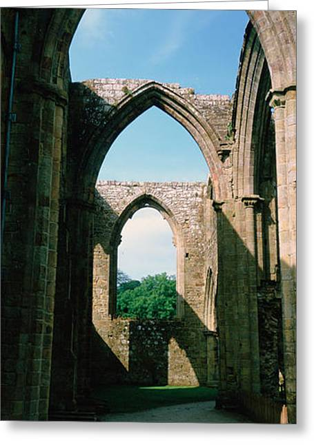 Low Angle View Of An Archway, Bolton Greeting Card