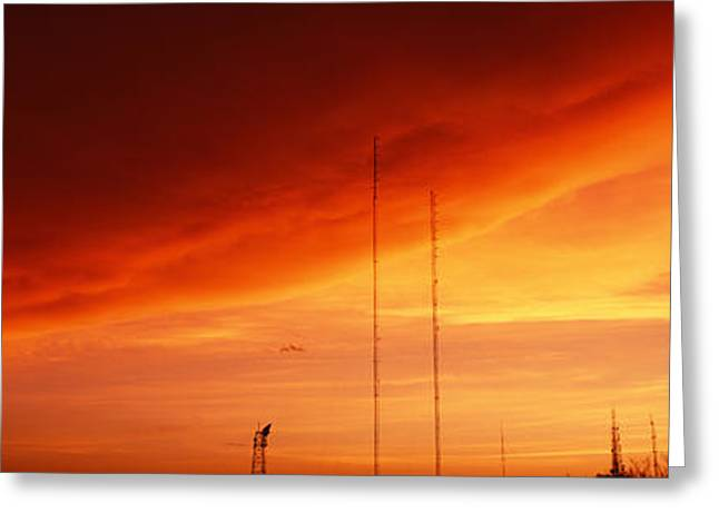 Low Angle View Of Antennas, Phoenix Greeting Card by Panoramic Images
