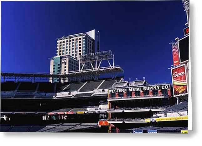 Low Angle View Of Baseball Park, Petco Greeting Card