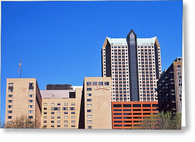 Low Angle View Of Buildings, Hyatt Greeting Card