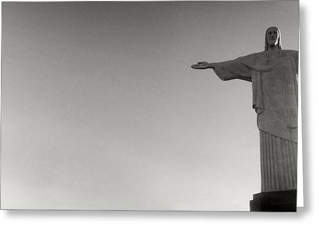 Low Angle View Of Christ The Redeemer Greeting Card by Panoramic Images