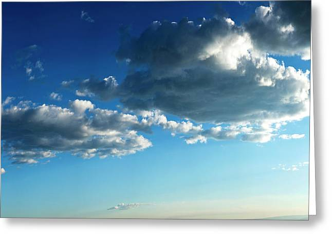 Low Angle View Of Cloudy Sky, Taos Greeting Card by Panoramic Images