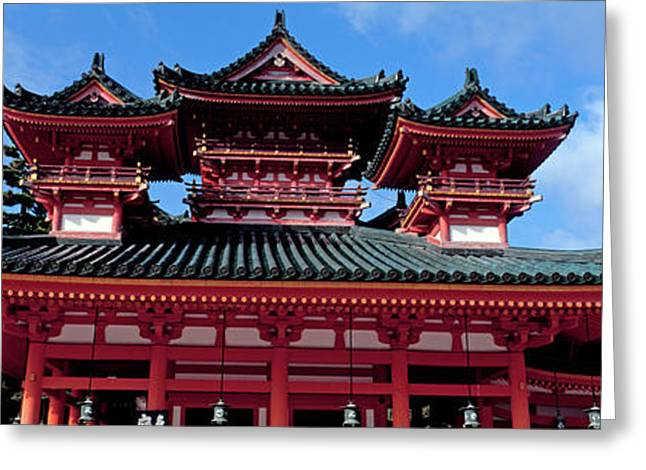 Low Angle View Of Heian Shrine Greeting Card by Panoramic Images
