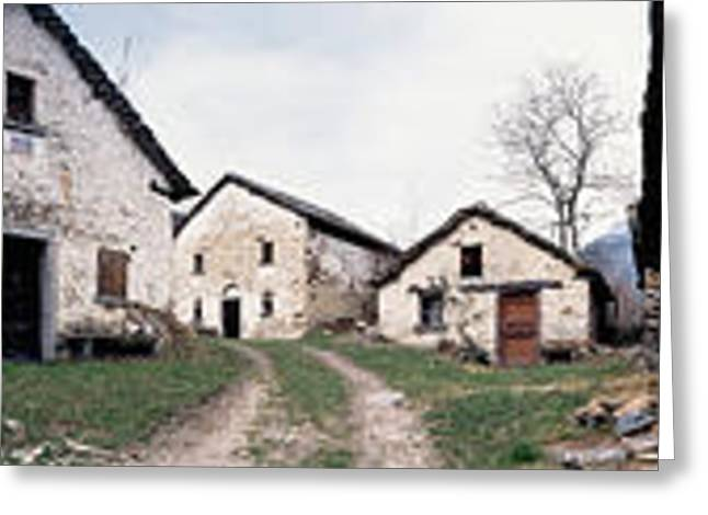 Low Angle View Of Houses In A Village Greeting Card by Panoramic Images