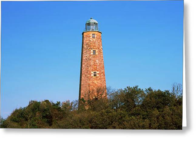 Low Angle View Of Lighthouses, Cape Greeting Card by Panoramic Images