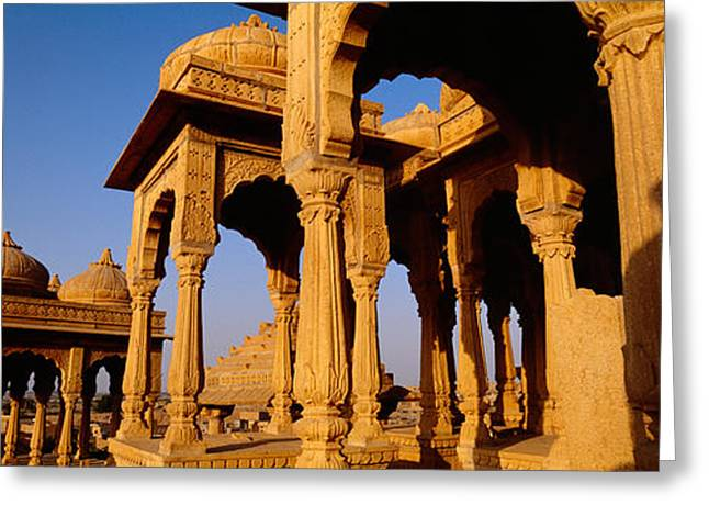 Low Angle View Of Monuments At A Place Greeting Card
