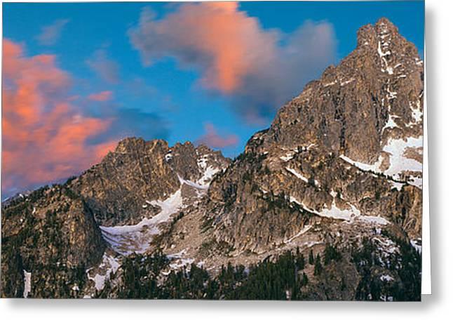 Low Angle View Of Nez Perce Peak, Teton Greeting Card by Panoramic Images