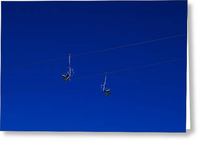 Low Angle View Of Ski Lifts, Stuben Greeting Card by Panoramic Images