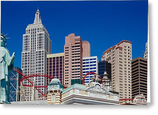 Low Angle View Of Skyscrapers, New York Greeting Card