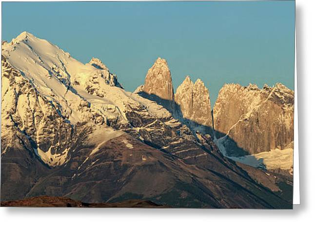 Low Angle View Of The Cordillera Paine Greeting Card by Panoramic Images