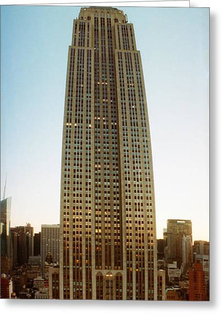 Low Angle View Of The Empire State Greeting Card by Panoramic Images