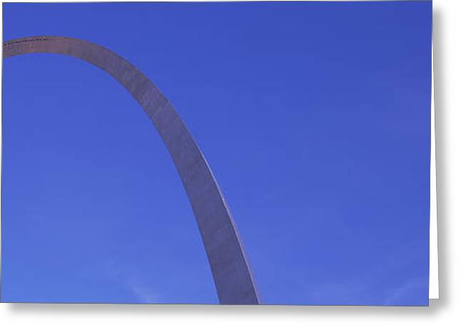 Low Angle View Of The Gateway Arch Greeting Card