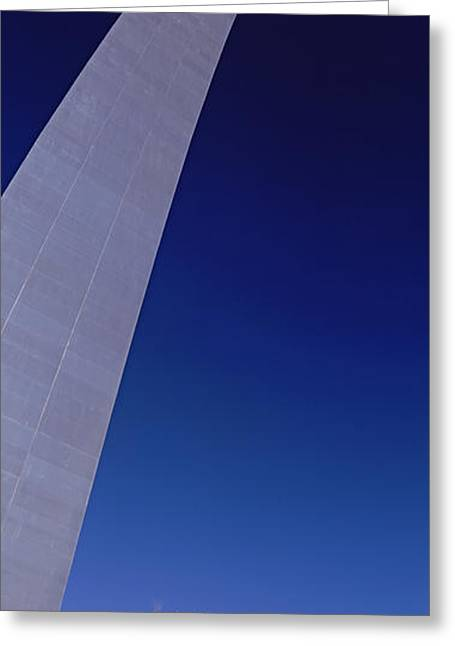 Low Angle View Of The Gateway Arch, St Greeting Card