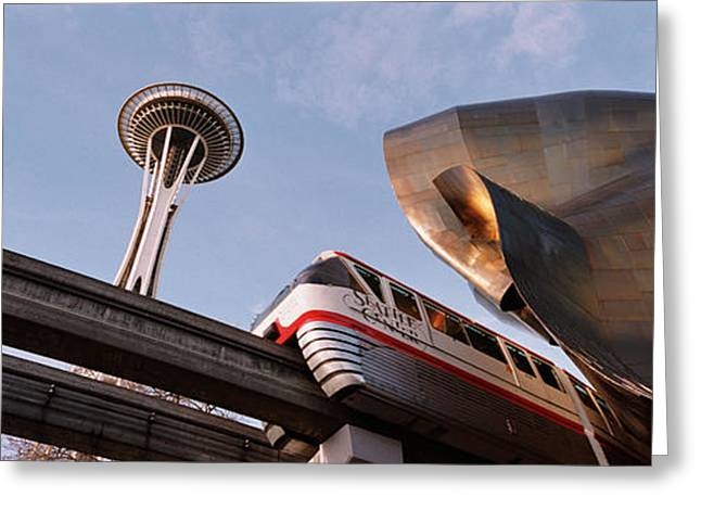 Low Angle View Of The Monorail And Greeting Card