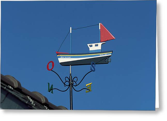 Low Angle View Of Weather Vane, Creach Greeting Card