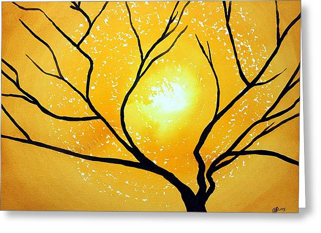 Low Country Original Painting Greeting Card by Sol Luckman