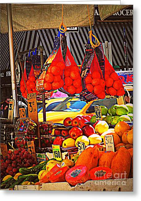 Greeting Card featuring the photograph Low-hanging Fruit by Miriam Danar