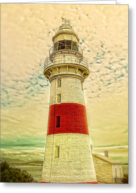 Greeting Card featuring the photograph Low Head Lighthouse by Wallaroo Images