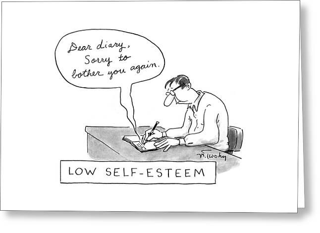 Low Self-esteem 'dear Diary Greeting Card