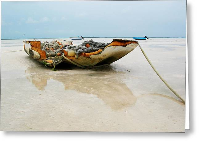 Low Tide 2 Greeting Card by Sarah-jane Laubscher