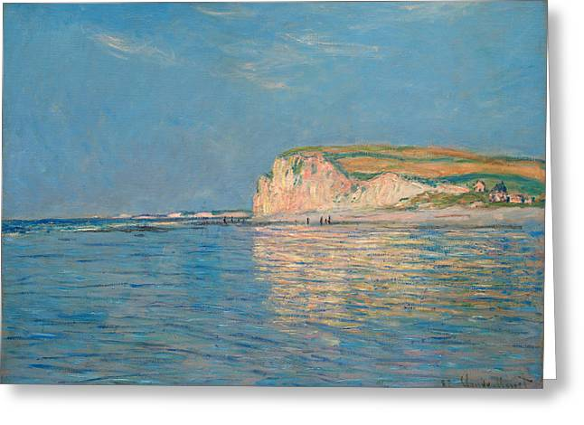 Low Tide At Pourville Greeting Card by Claude Monet
